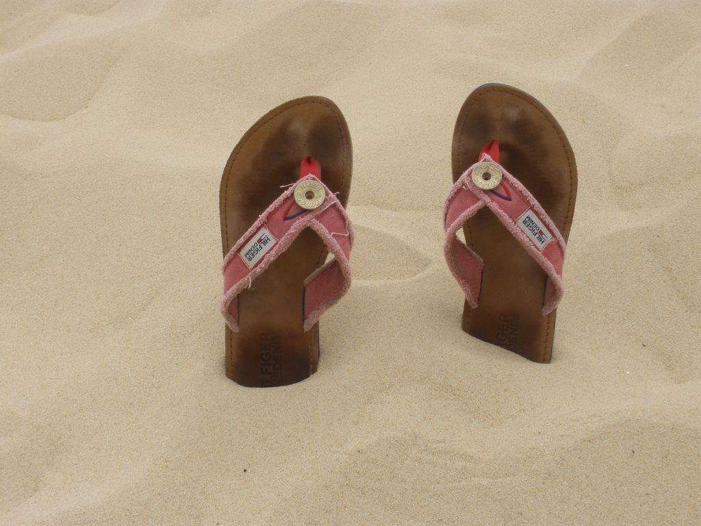 Flip-Flops im Sand