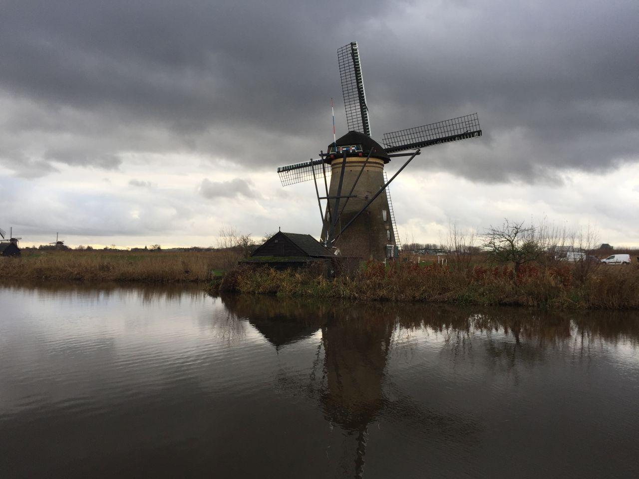 Muehle am Kinderdijk in den Niederlanden