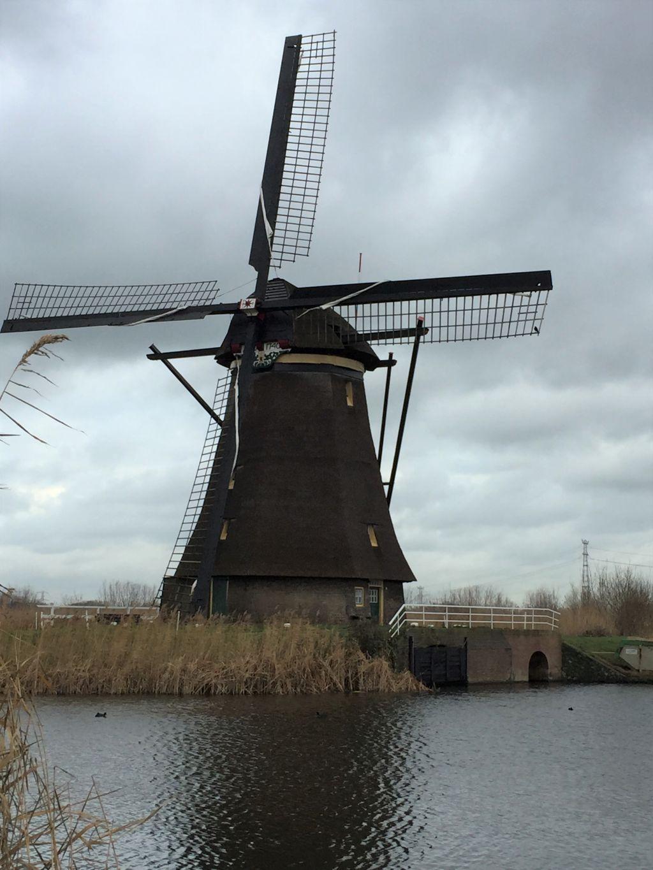 Overwaard-Muehle am Kinderdijk in den Niederlanden