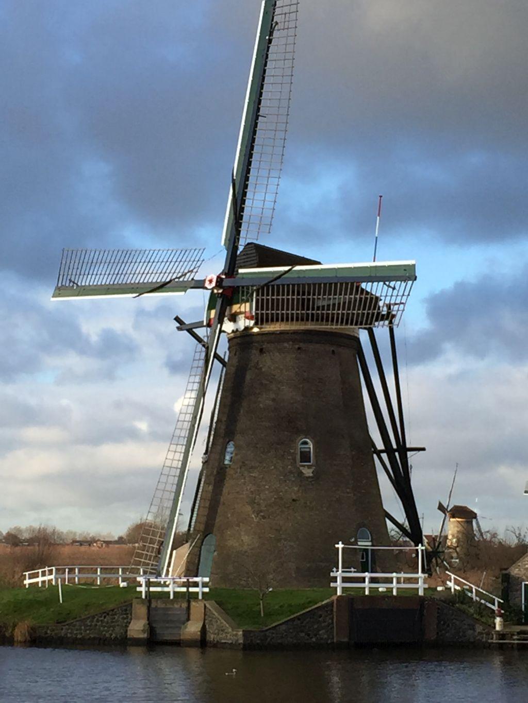 Neederward-Muehle am Kinderdijk in den Niederlanden