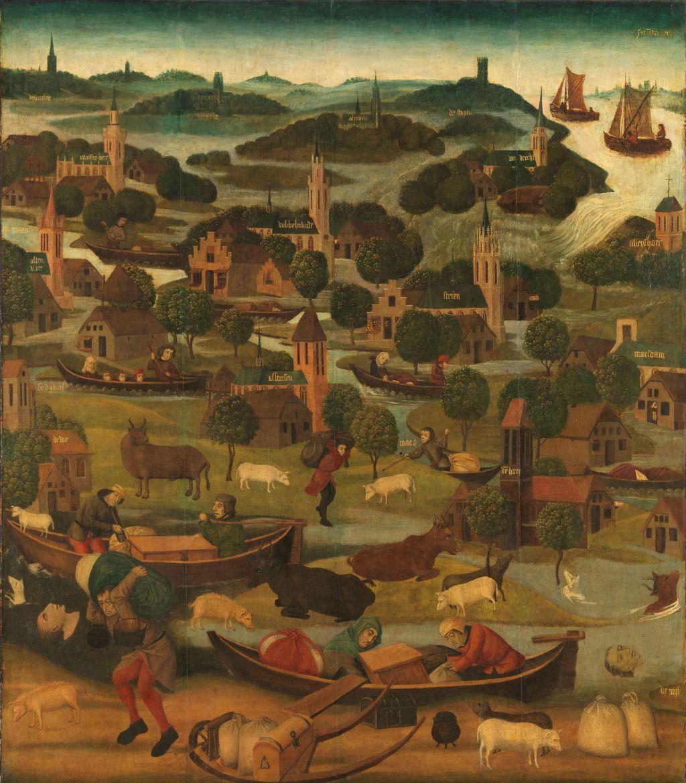 Gemaelde Elisabtehenflut aus dem 15. Jahrhundert, heute ausgestellt im Rijksmuseum in Amsterdam.