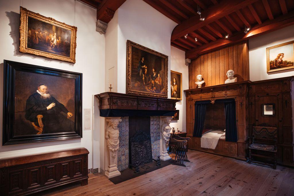 Salon und Schlafzimmer Rembrandts im Museum Rembrandthaus in Amsterdam
