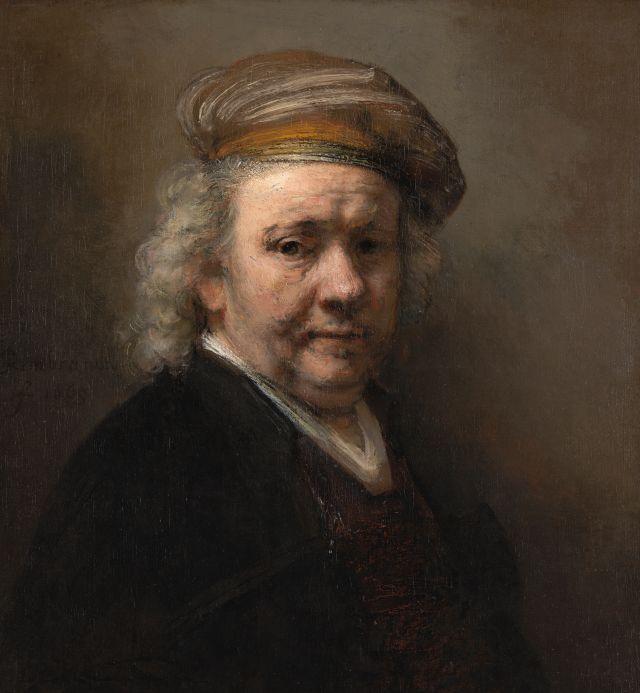 Rembrandt, Selbstportrait, 1669. Das Gemälde gehört zur Sammlung des Mauritshuis, The Hague Fotograf: Ivo Hoekstra