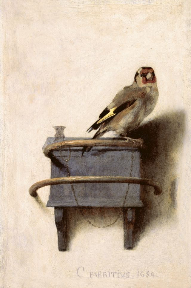 Carel Fabritius The Goldfinch, 1654 Mauritshuis, The Hague